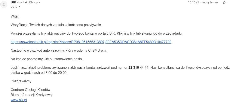 alerty bik email