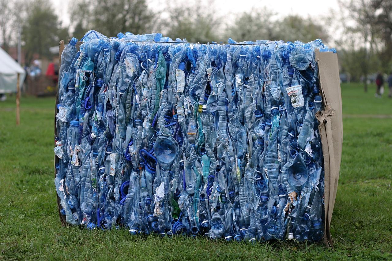 śmieci - plastikowe butelki